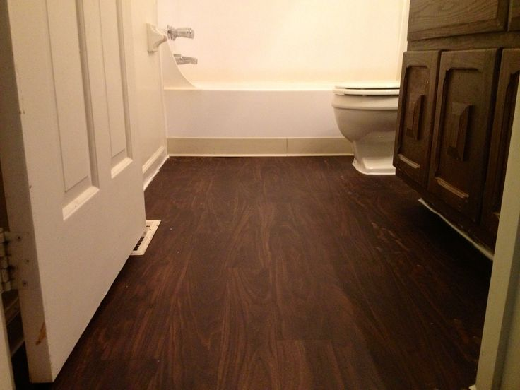 Vinyl bathroom flooring bathroom remodel pinterest for Bathroom ideas with wood floors