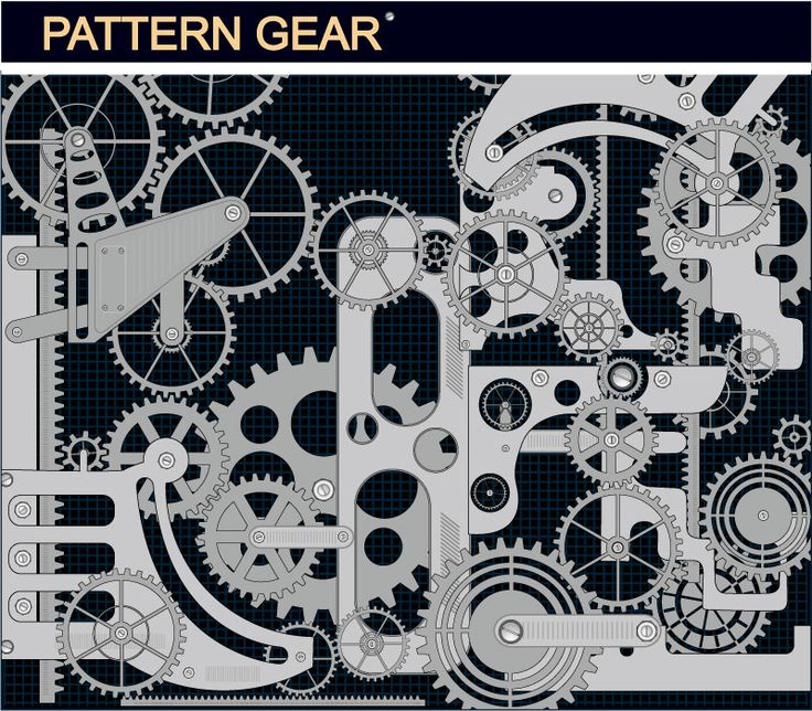 Mechanical Gear Background Vector Material