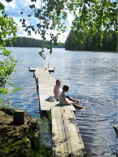 oh...vermont summers - love the lakes in the summer! So cool and refreshing. Need this right now.