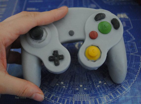 3D Gamecube controller parody controller handmade by NerdySoap