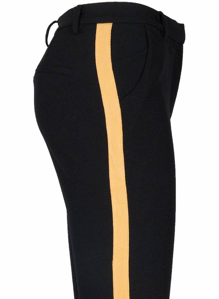 Rebelz Collection Pantalon Ella zwart/okergeel