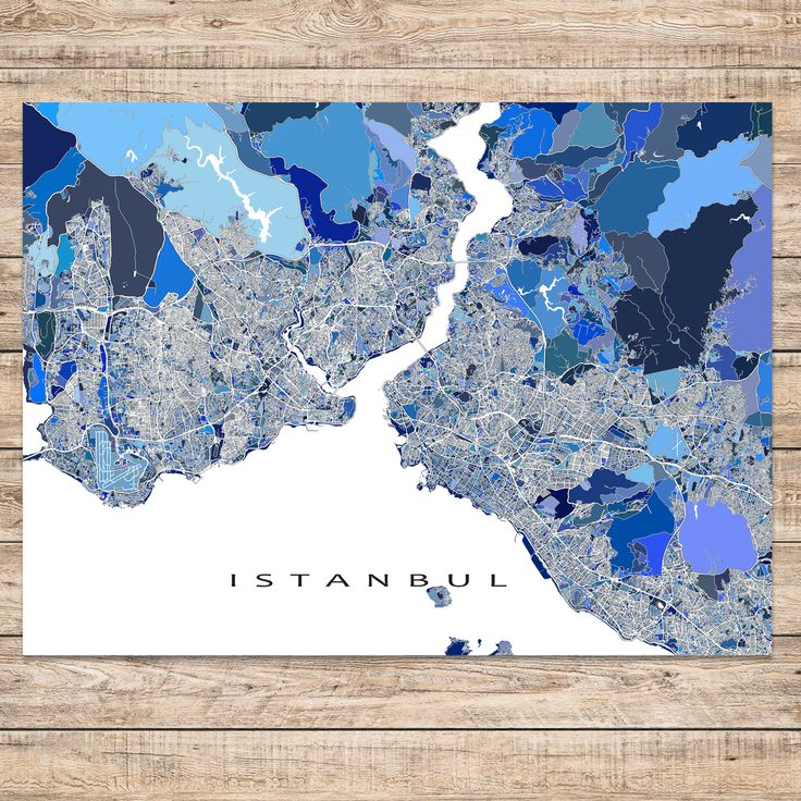 istanbul map print turkey