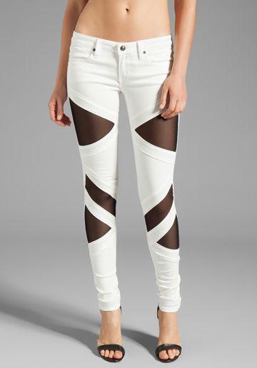 FRANKIE B. JEANS EXCLUSIVE Bondage Skinny in White/Black - Frankie B. Jeans