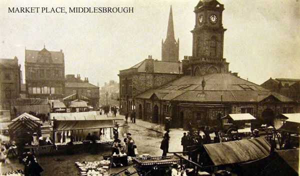 Middlesboro old town market place, from Billy Scarrow blog, with some history of the town and ironmaking.
