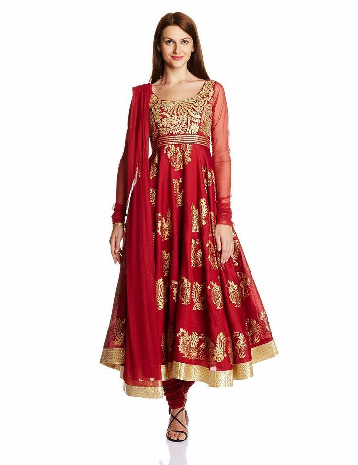 Biba Women's Cotton Anarkali Salwar Suit