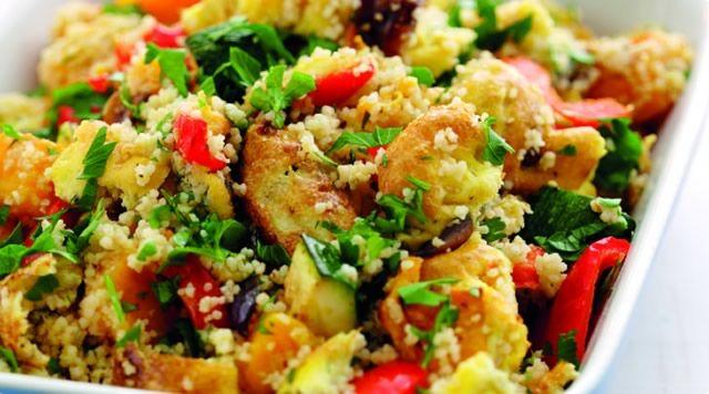Kuskus s kuřecím masem a zeleninou Projezte se ke štíhlé linii!