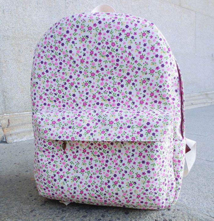 Small fresh backpack female canvas backpack casual school bag preppy style