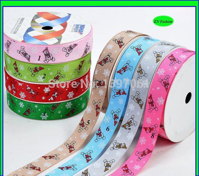 Cheap Envío libre 1 Rollo ( 100yards ) 16mm 5/8 ' ' de dibujos animados oso materiales impresos cintas del grosgrain de artesanía ( EN221401 ), Compro Calidad Cintas directamente de los surtidores de China:       artículo   :        El envío libre 1 Rollo ( 100yards ) 16mm 5/8 '', soportar las cintas del grosgrain impreso ma