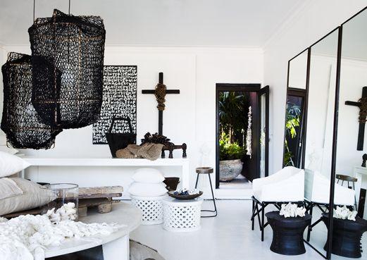 est magazine - global living with an australian twist: Natural ElementsLights, Decor, Side Tables, Interiors, Les Interieur, Black White, Concept Stores, Design Studios, Pamela Makin