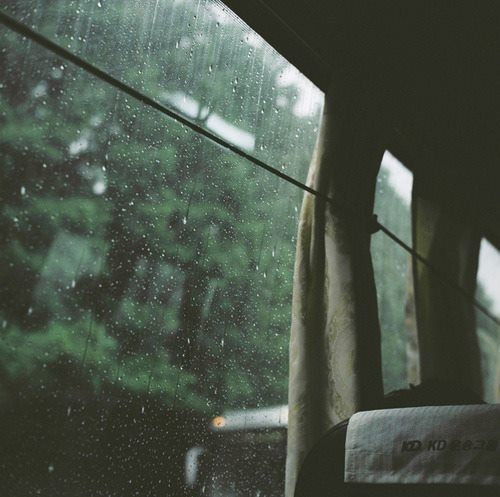 rides in different vehicles - like trains, in the rain, in lovely surroundings, or interesting places, can make me feel free and open.