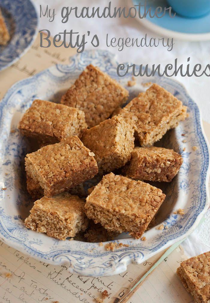 My grandmother Betty's legendary crunchie recipe on DrizzleandDip.com  #baking