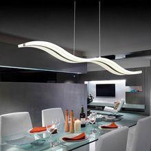 Criativo moderno luz retangular chandelier acrílico restaurante bar lâmpada de de luz pendurado acrílico cut off ondas de refeições droplight(China (Mainland))