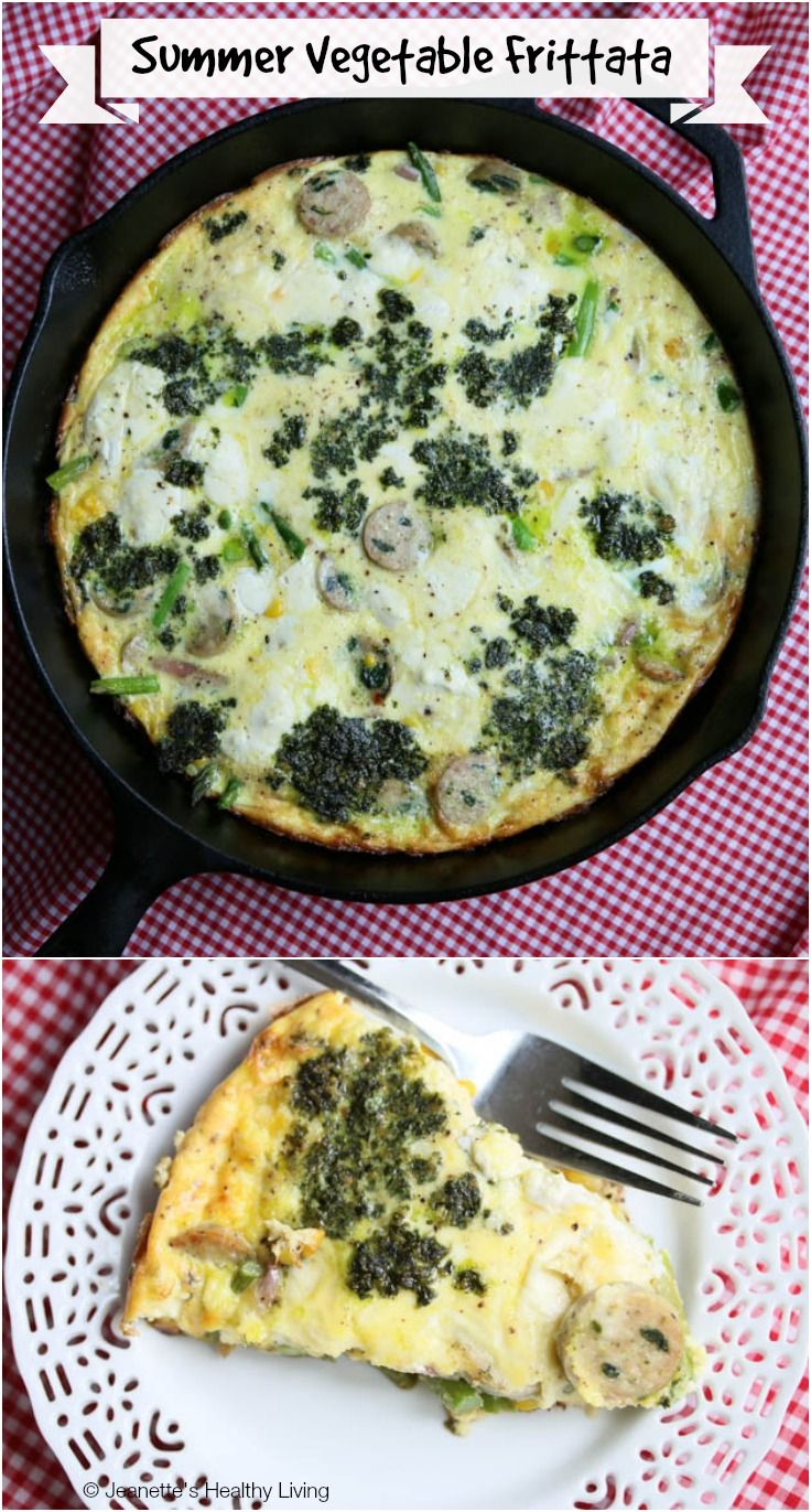Summer Vegetable Frittata with Corn and Asparagus Recipe - Jeanette's ...