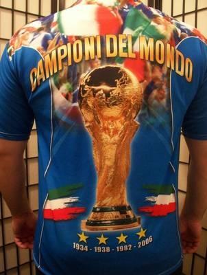ITALIA Campion Del Mondo BerlinoLuglio 2006 FICG FIFA Soccer Football Shirt XL