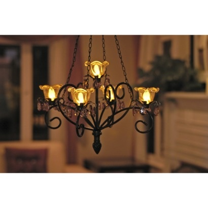 Outdoor Chandelier At Target With 4 8 Programmable Timer, Battery Operated.  Lights Flicker