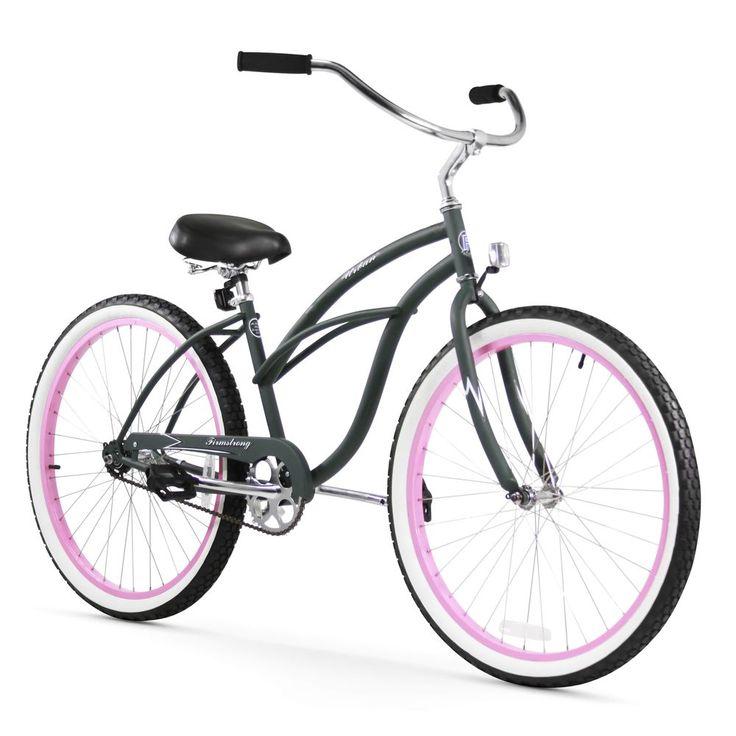 "26"" Firmstrong Urban Lady Limited Single Speed Women's Beach Cruiser Bike, Army  | eBay"