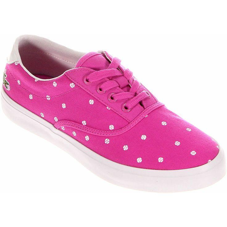 Lacoste Sport Bellevue Trainers Pink Women Canvas Sneakers Size US 6 UK 4 EUR 37 #Lacoste #FashionSneakers #ebay #deals #sale