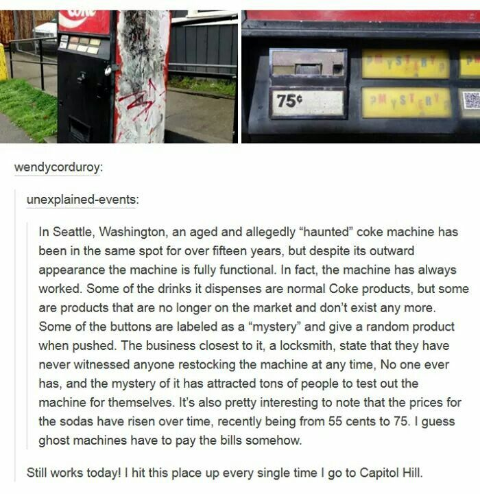 haunted coke machine seattle
