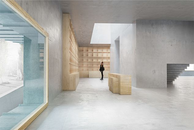 Petra Gipps entrance hall of her proposal for the building extension of Liljewalch Konstahall.