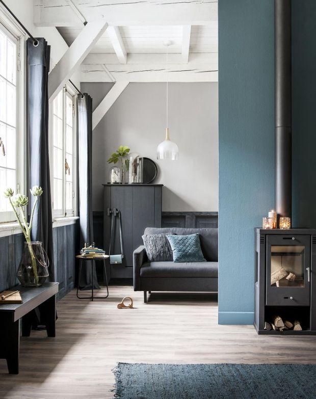 #Blauw als statement kleur in uw #woonkamer.