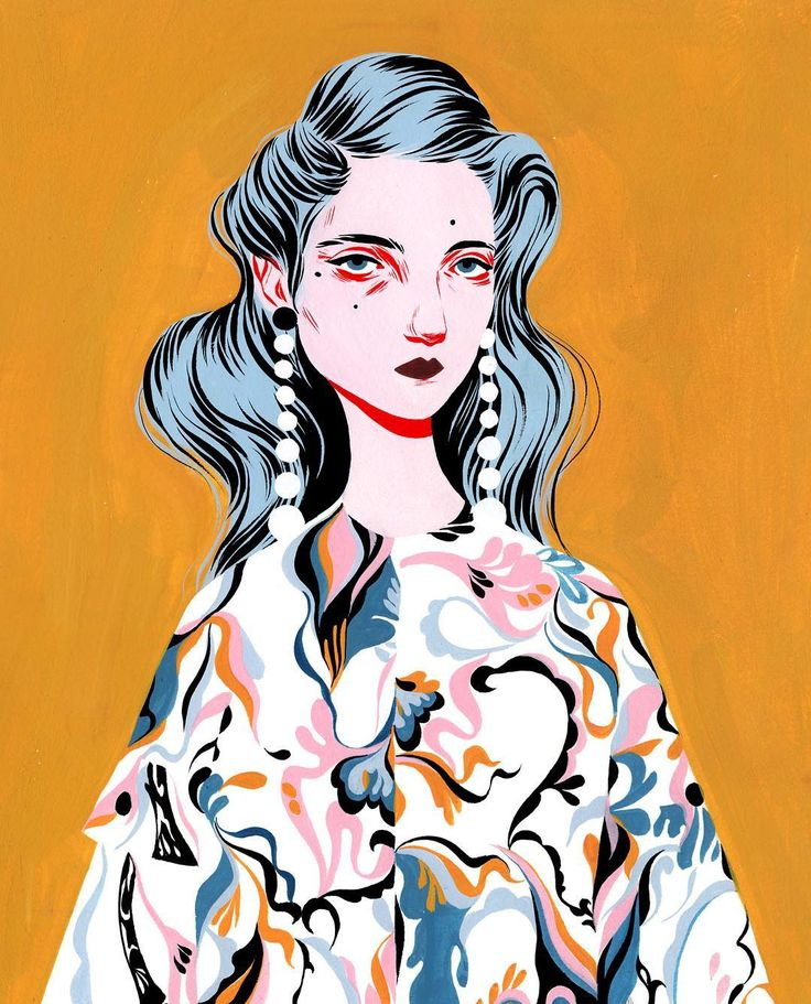 Artist & Illustrator in LA  bijoukarman.com | Love her style of illustration so much <3 <3 <3 [colourmefuchsia]