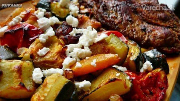 Zelenina pečená na paradajkovom pretlaku (fotorecept)