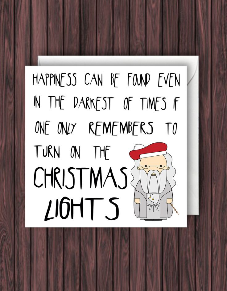 Christmas Lights. Harry Potter Christmas Card. Greetings Card. Dumbledore. by TheDandyLionDesigns on Etsy https://www.etsy.com/listing/250558035/christmas-lights-harry-potter-christmas