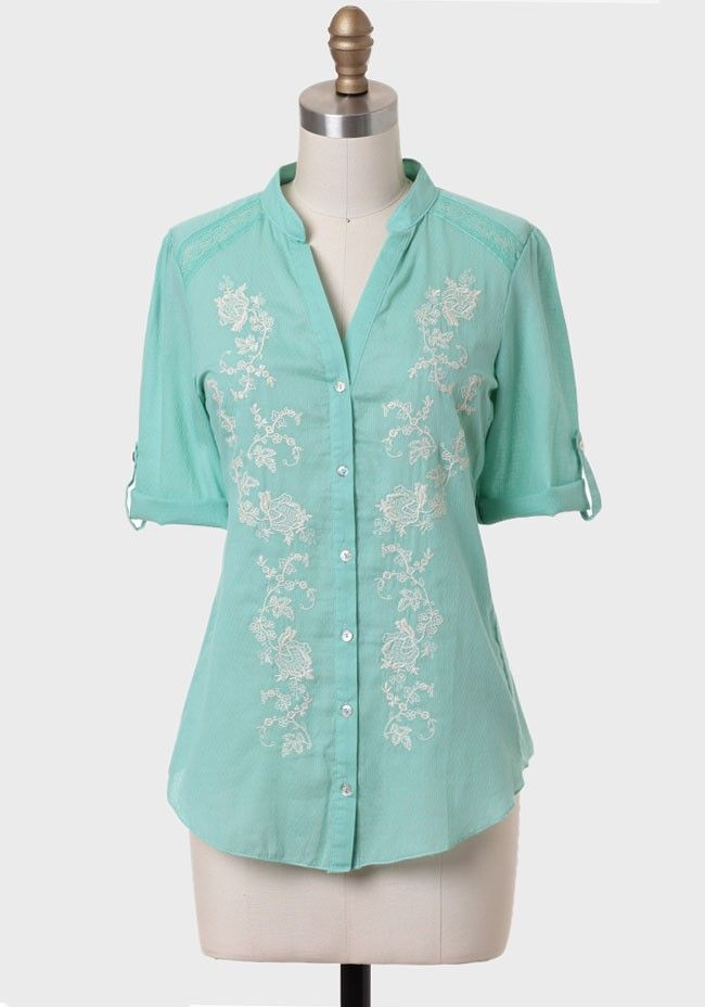 Valley View Embroidered Blouse