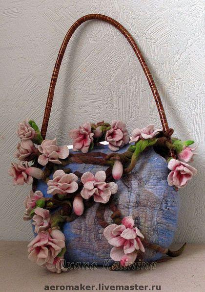 "Art Bag ""Sakura"" - Oksana Kalinina, spring, japan, sakura, flower-filled garden"