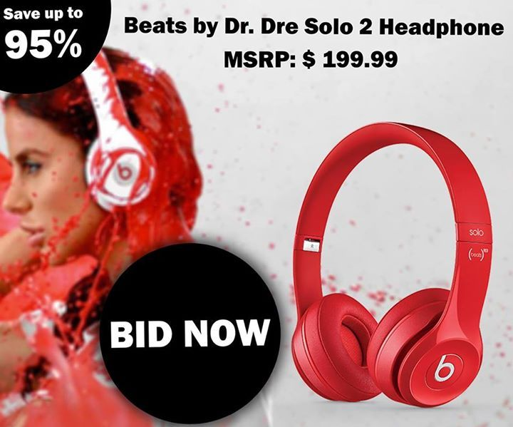 Start #Bidding On Our Live #Auctions and Win this Amazing Headphones by Dr. Dre!! To Buy Nuts and Start Bidding, Visit: https://us.nutbid.com/