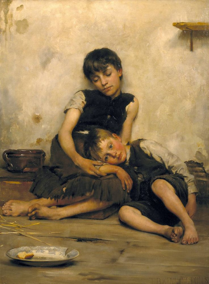 "Thomas Benjamin Kennington (1856‑1916)  ""Orphans"" to have talent such as this...to make the world stop and see its own soul...."
