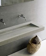 Bathroom - minimalist light grey