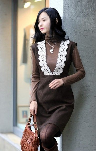 Теплые платья-сарафаны