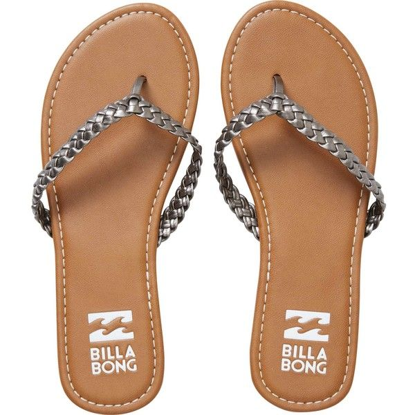 Beach Braid Sandal ($25) ❤ liked on Polyvore featuring shoes, sandals, vegan sandals, braided sandals, vegan leather shoes, beach footwear and billabong sandals