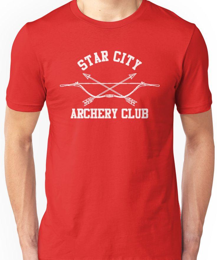 Star City Archery Club - Green Arrow, CW Unisex T-Shirt