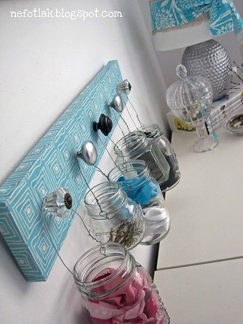 AWESOME Storage Idea For bobby pins, hair ties, cotton balls, Q tips,