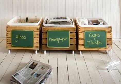 Homemade Recycling Bins