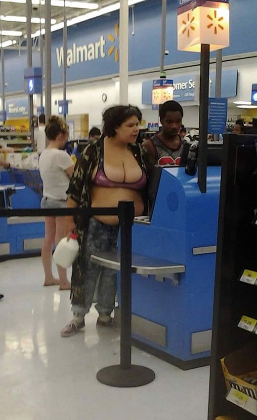One Gallon Milk Jugs at Walmart - Funny Pictures at Walmart                                                                                                                                                     More