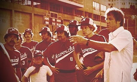 Kurt Russell playnig for the Mavericks Baseball team.  His father was the coach.