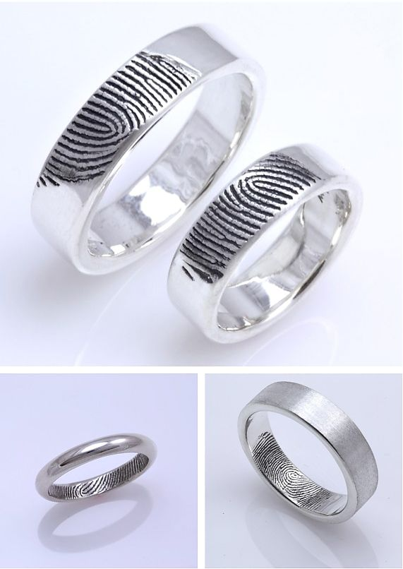 fingerprint #wedding #rings