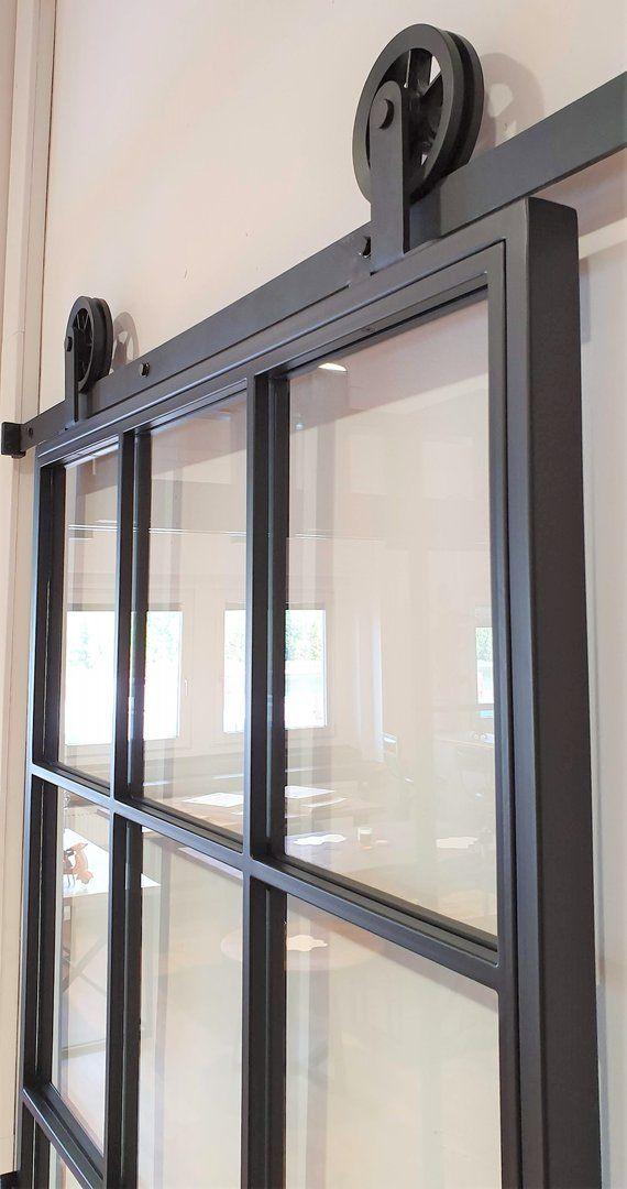 Loft French 02 Schiebetür Aus Stahl Glas Und Holz In 2020