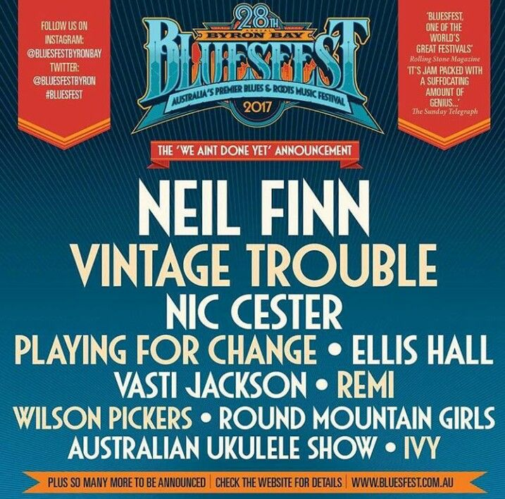 Neil Finn joins the Byron Bay Bluesfest line up