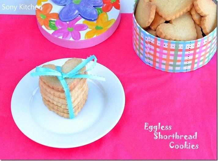 Eggless Shortbread Cookies–3 Ingredient Cookie