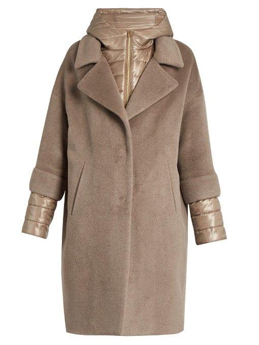 Herno Soft Brush showerproof wool-blend coat