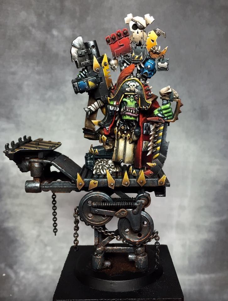 Warhammer 40k | Orks | Captain Badrukk Ork Boss | Golden Daemon 2016 #warhammer #40k #40000 #wh40k #wh40000 #warhammer40k #gw #gamesworkshop #wellofeternity #miniatures #wargaming #hobby #tabletop