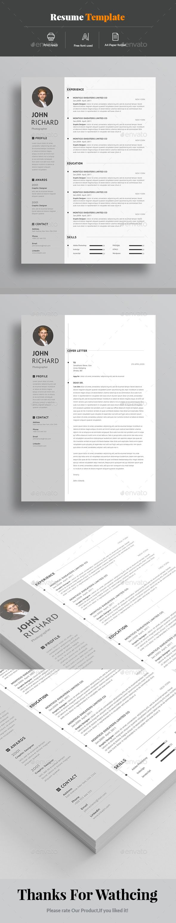 Resume & Cover Letter Template PSD