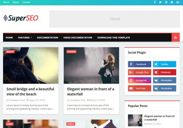 Super Seo Optimised Blogger Template En 2020 Interface Utilisateur Mise En Page Page Web