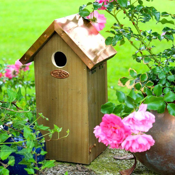 Nistkasten Vogelhaus Vogelhäuschen Kohlmeise Kupferdach Esschert Design