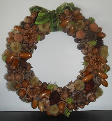 Xmas wreath made with only natural elements by Mammataua: E finalmente... la mia ghirlanda di Natale!