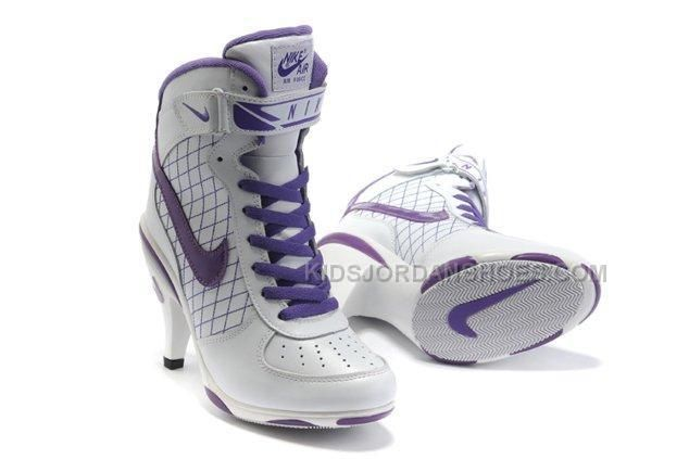 http://www.kidsjordanshoes.com/nike-air-force-1-heels-ankle-boots-white-purple-nice-buy-online.html NIKE AIR FORCE 1 HEELS ANKLE BOOTS WHITE PURPLE NICE BUY ONLINE Only $119.00 , Free Shipping!